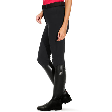 BR100 Women's Horseback Riding Jodhpurs - Black