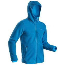 Fleece vest voor sneeuwwandelen heren SH100 ultra-warm blauw