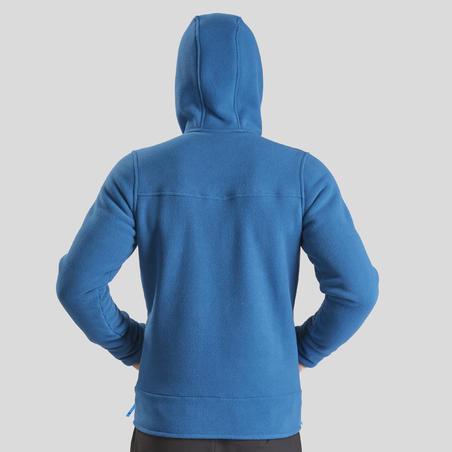 Чоловіча флісова кофта SH100 U-Warm для зимового туризму - Синя