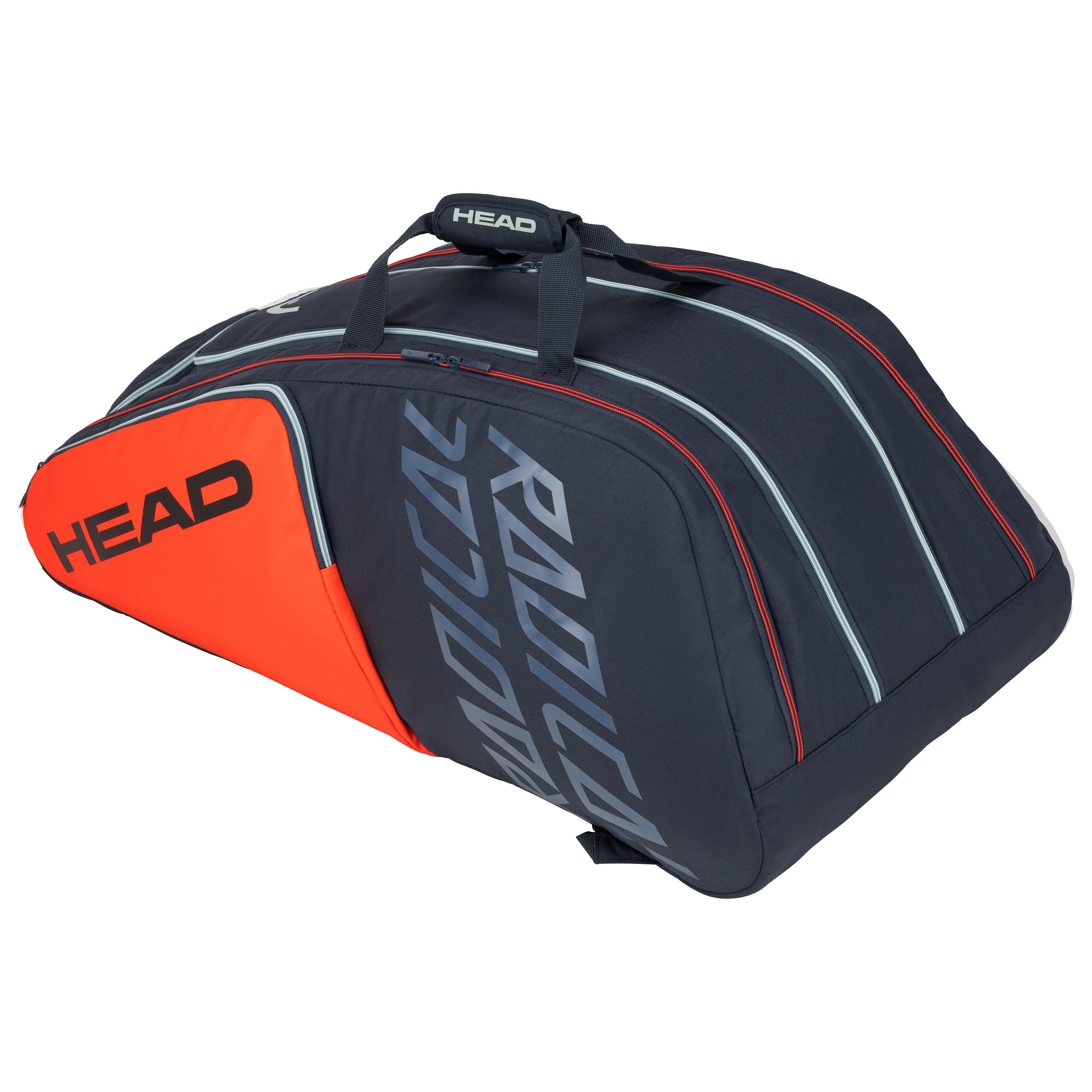 Sacs de badminton unisexe sacs /à bandouli/ère 3 Pack Badminton sacs pour tous les niveaux joueurs une taille rouge//noir