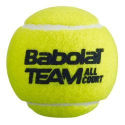 Tennisbal Team All Court 4 stuks geel