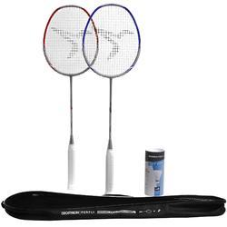 Lot Raquette De Badminton Adulte BR 190 Partner - Rouge/Bleu Foncé