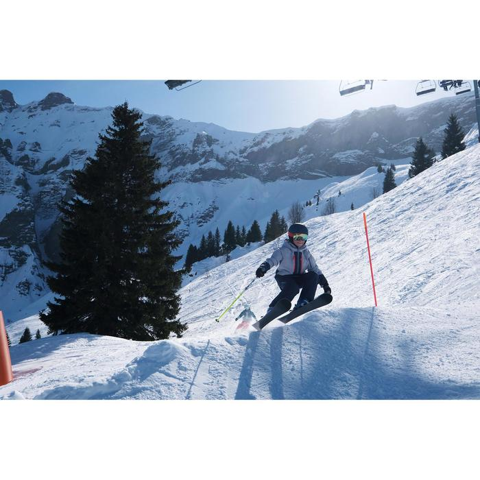 SKI SALOPETTES FREERIDE 900 with Built-In Back Protector BIB PROTECT BLUE