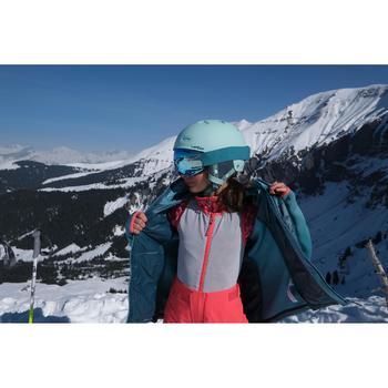 青少年3合1滑雪外套Freeride 900 - 綠色