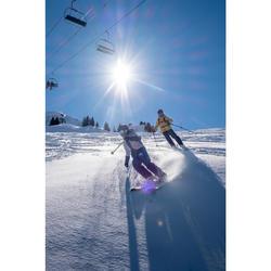 青少年滑雪3合1外套FREERIDE 900 - 灰色藍色
