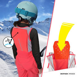 SKIING SALOPETTES FREERIDE 900 with Built-In Back Protector BIB PROTECT - BLUE