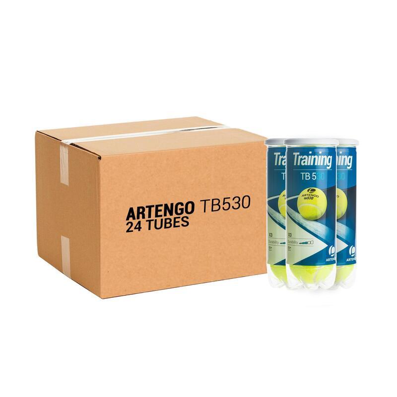Tennisballen TB530 24 kokers van 3 stuks geel