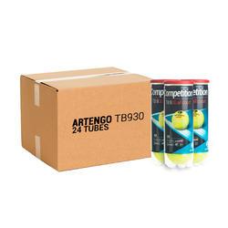 Tennisballen TB930 24 kokers met 3 stuks geel