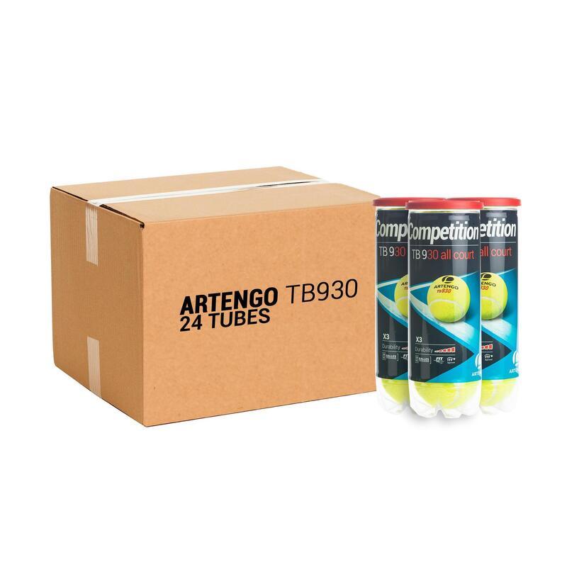 CARTON DE BALLES DE TENNIS TB930 SPEED x24 TUBES DE 3 BALLES
