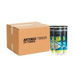 Tennisballen voor competitie TB920 24 kokers van 3 stuks geel
