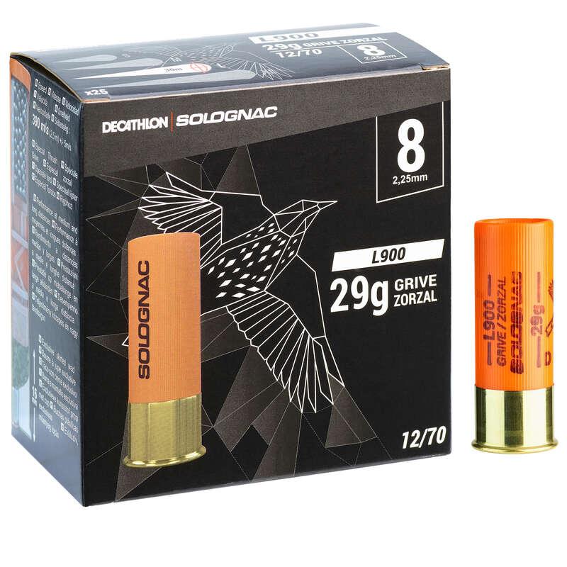 Cartucho L900 29g Especial Tordos Calibre 12 70 Chumbo N 8 X25 Solognac