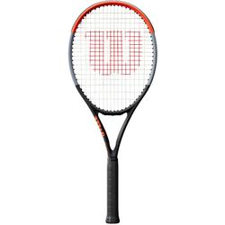 Raquette de tennis adulte Clash 100L gris rouge