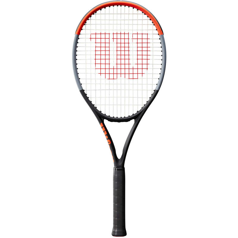 ADULT ADVANCED RACKETS Tennis - Clash 100L - Grey/Red WILSON - Tennis