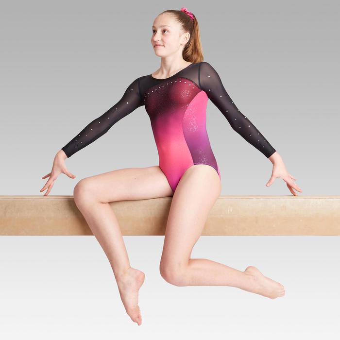 Justaucorps manches longues rose / violet Gymnastique Artistique Féminine 900