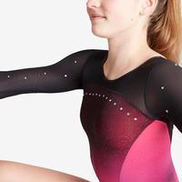 Women's Artistic Gymnastics Long-Sleeved Leotard 900 - Pink/Purple
