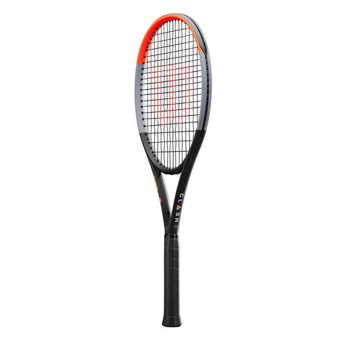 Tennisracket voor volwassenen Clash 100 zwart/rood