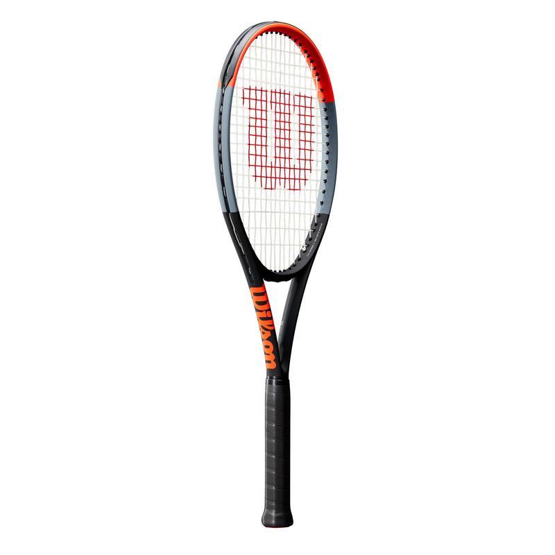 Raquette de tennis adulte Clash 100L gris rouge