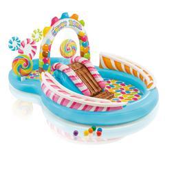 Piscine parc aquatique intex avec toboggan pour les enfants de plus de 3 ans