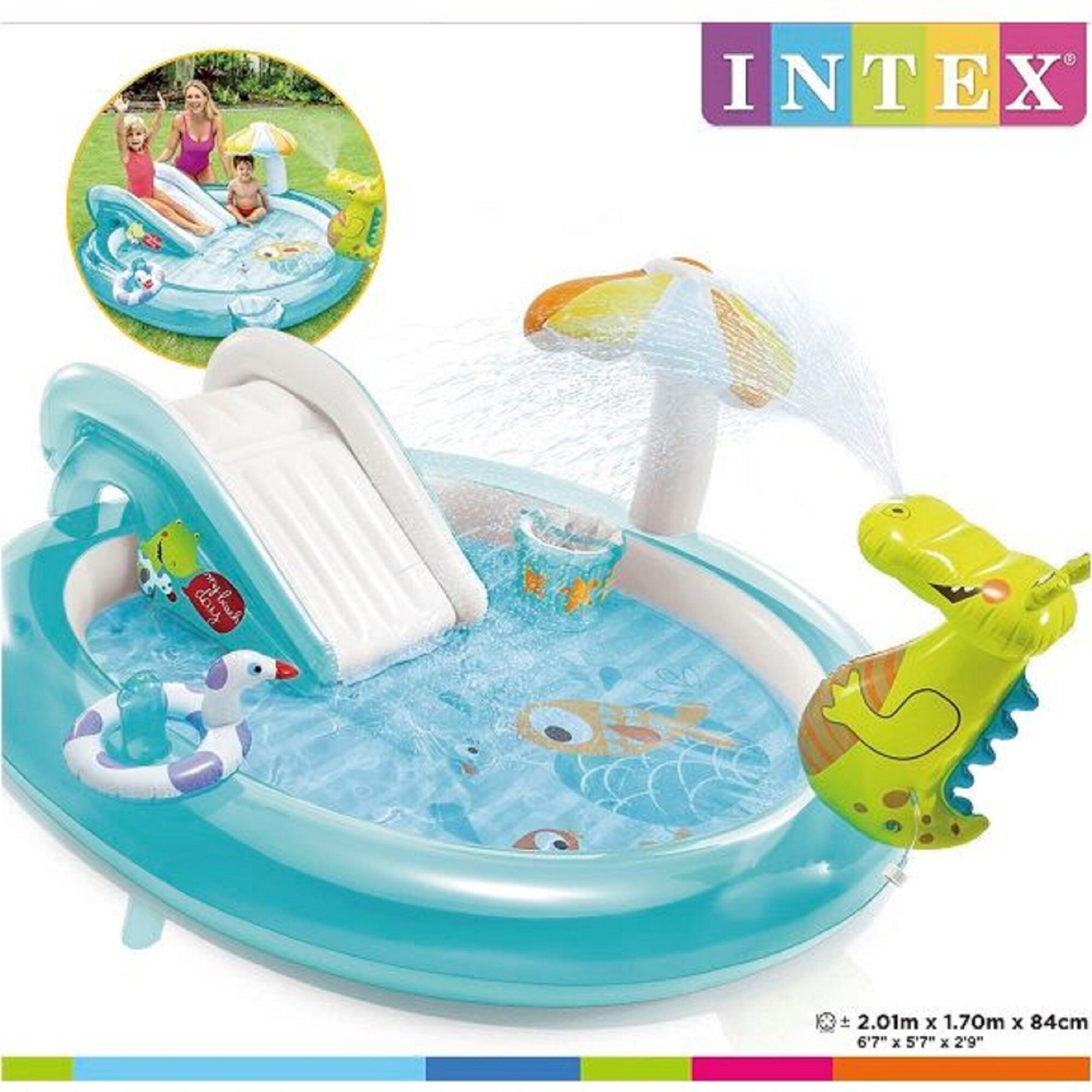 Intex Piscine Parc Aquatique Intex Avec Toboggan Pour Les Enfants De Plus De 3 Ans Decathlon