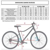 Riverside 120 Hybrid Bike - Grey