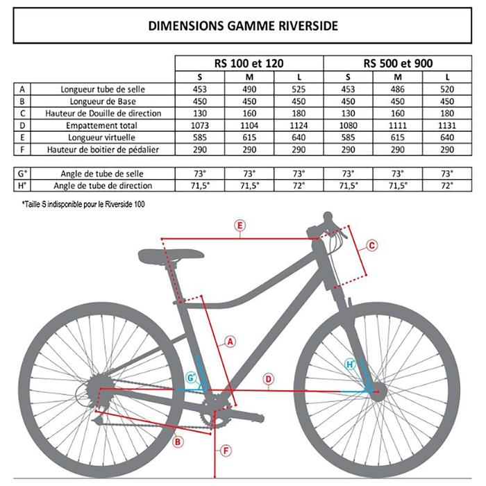 Hybride fiets Riverside 120 grijs