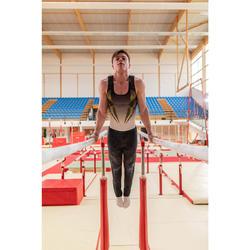 Léotard Gymnastique Artistique Masculine Blanc / Noir