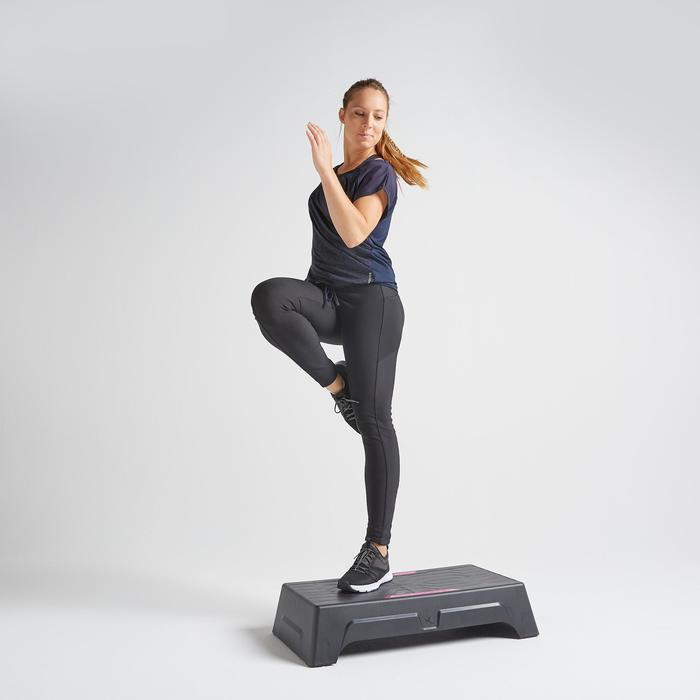 Women's Fitness Cardio Training T-Shirt 120 - Navy Blue Print