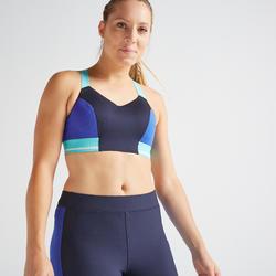 Top Sujetador Deportivo Cardio Training Domyos FBRA 500 mujer azul