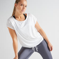 Women's Loose fit Regular Fitness T-Shirt - White
