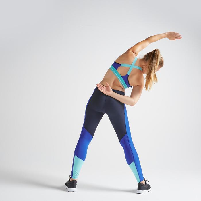 Brassière fitness cardio training femme bleue 500