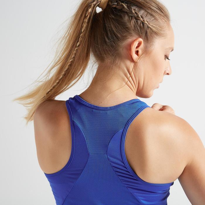 Topje voor cardiofitness dames 120 felblauw