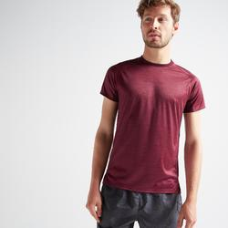 Camiseta manga corta Cardio Fitness Domyos FTS 120 hombre burdeos