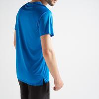 Playera de cardio fitness hombre FTS 100 H azul