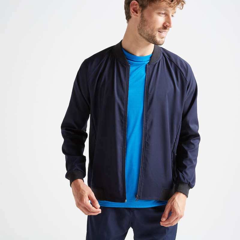 MAN FITNESS APPAREL New Collection - FVE 100 Jacket - Navy DOMYOS - Men