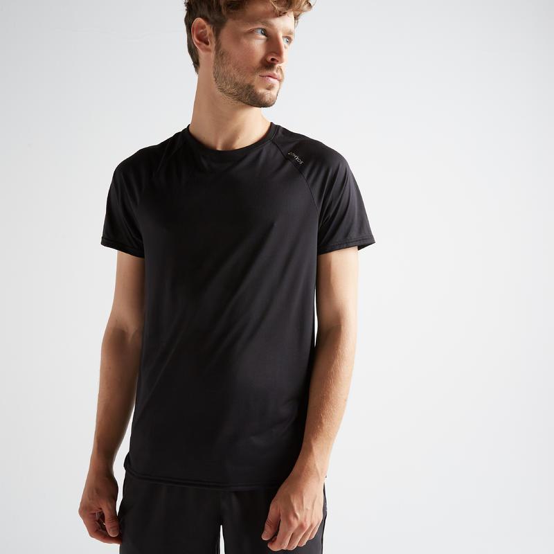 Tee-shirt cardio fitness training homme FTS 100 H noir