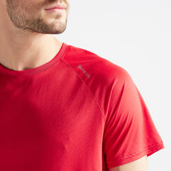 T-shirt fitness cardio training homme 100 rouge