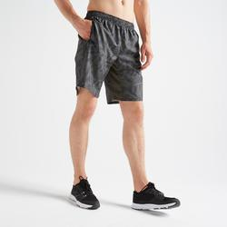 Pantalón corto chándal Fitness Cardio Domyos FST 120 hombre caqui