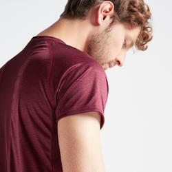 T-shirt entraînement cardio homme FTS 120 bordeaux AOP