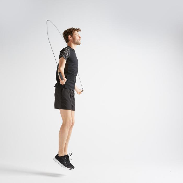 Tee shirt cardio fitness training homme FTS 120 noir manche printé