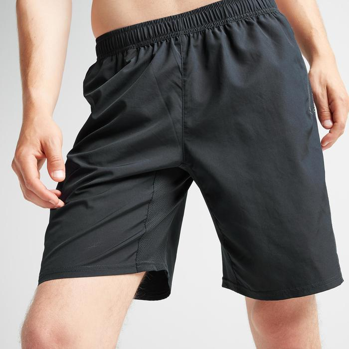 Sporthose kurz FST 120 Fitness Cardio Herren schwarz