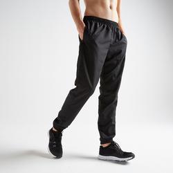Pantalón chándal Fitness Cardio Domyos FPA 120 hombre negro