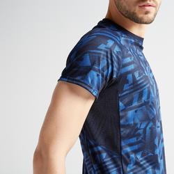 Cardiofitness T-shirt heren FTS 120 blauw AOP