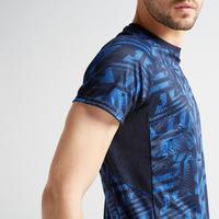 T-shirt entraînement cardio homme FTS 120 bleu AOP