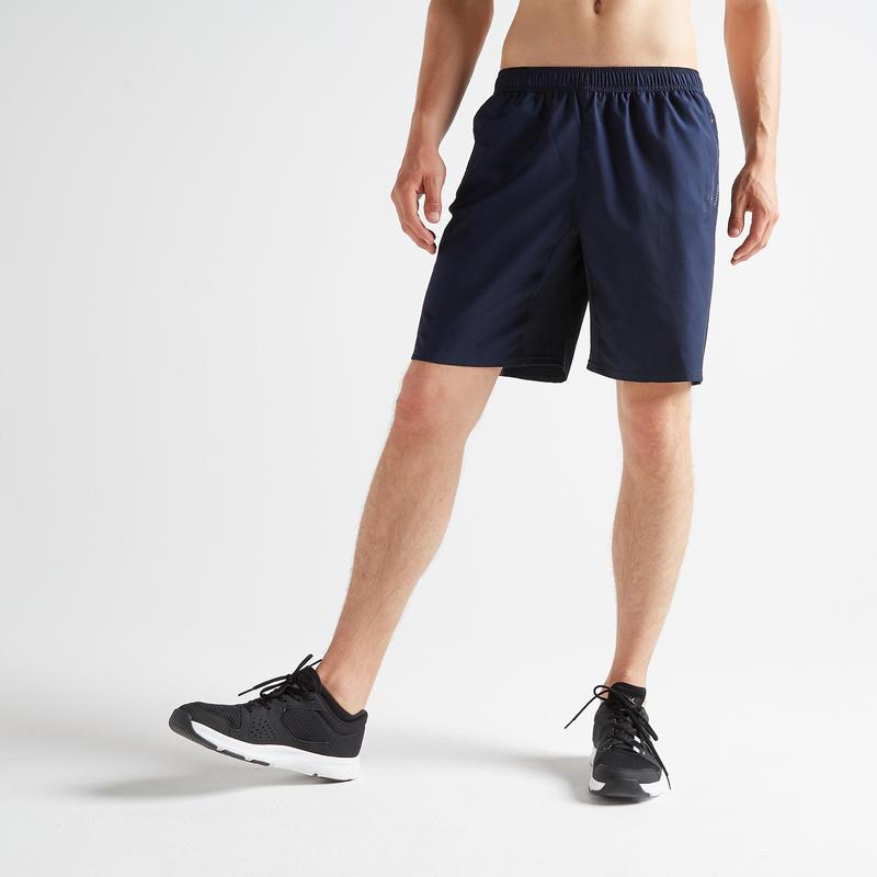 Short de cardio fitness hombre FST 120 azul marino