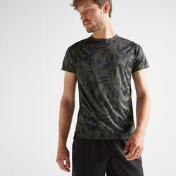Camiseta manga corta Cardio Fitness Domyos FTS 120 hombre caqui