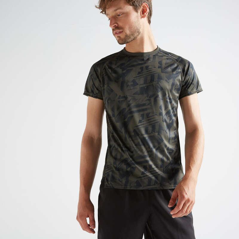 ABBIGLIAMENTO UOMO CARDIO FITNESS Fitness - T-shirt uomo cardio 120 verde DOMYOS - Abbigliamento palestra