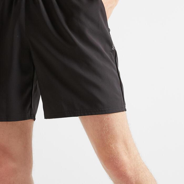 Sporthose kurz Shorts FST 100 Fitness Cardio Herren schwarz