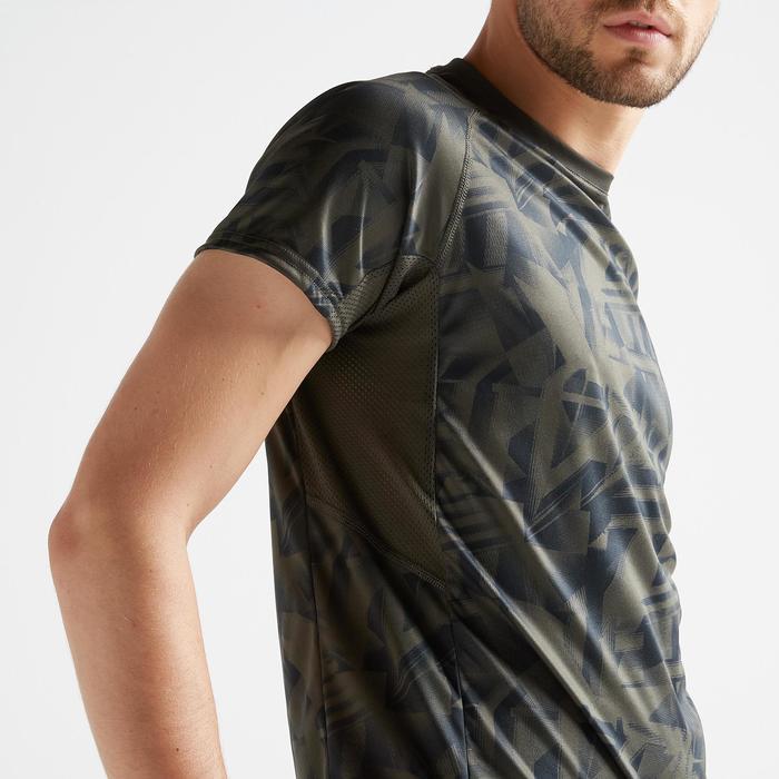 Cardiofitness T-shirt heren FTS 120 kaki AOP