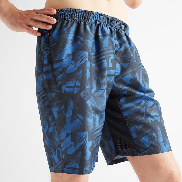 Sportbroekje fitness FST 120 voor heren, blauw met print