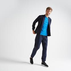 Sudadera deportiva con cremallera Cardio Training Domyos FVE 100 hombre azul